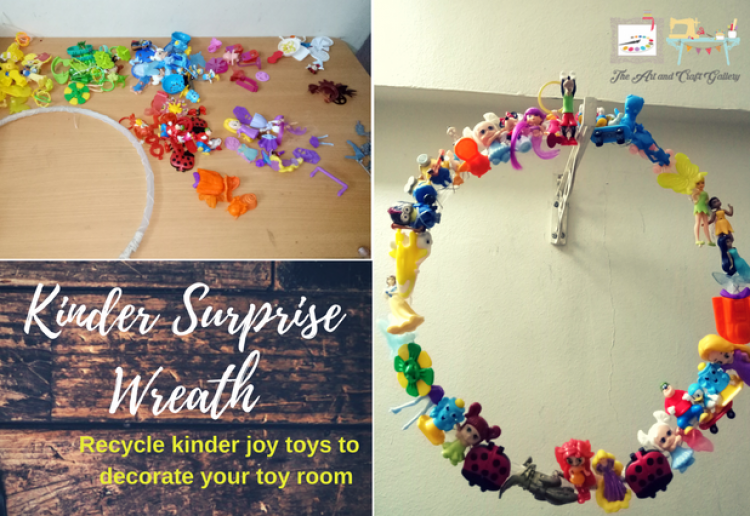 Kinder Surprise Wreaths for Toy Room